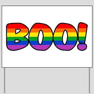 Halloween Rainbow BOO Yard Sign