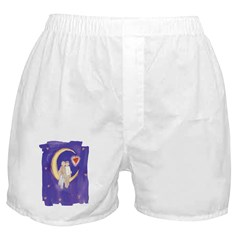 Cute Couple on Moon Boxer Shorts