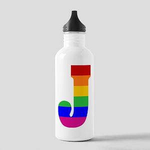 Rainbow Letter J Stainless Water Bottle 1.0L
