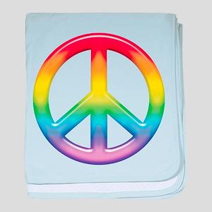 Rainbow Peace Sign Infant Blanket