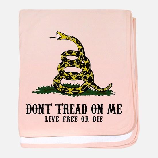 Don't Tread on Me 3 Infant Blanket