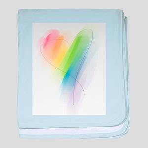 Rainbow Heart Infant Blanket