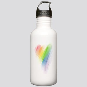 Rainbow Heart Stainless Water Bottle 1.0L