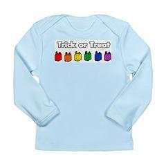 Rainbow Halloween Trick or Tr Long Sleeve Infant T