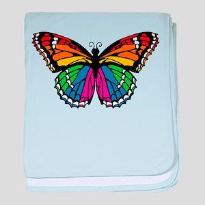 Rainbow Butterfly Infant Blanket