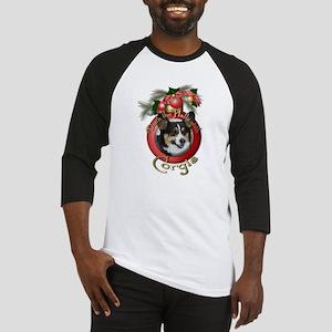Christmas - Deck the Halls - Corgis Baseball Jerse
