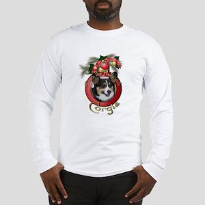 Christmas - Deck the Halls - Corgis Long Sleeve T-