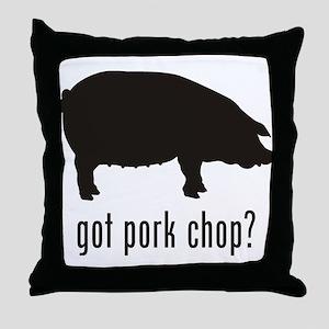 Pork Chop Throw Pillow