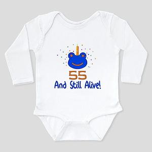 55 And Still Alive Long Sleeve Infant Bodysuit