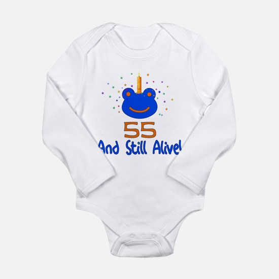55 And Still Alive Long Sleeve Infant Bodysuit