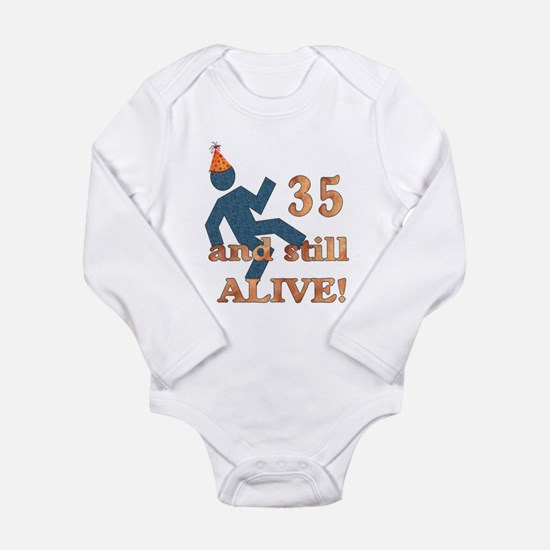 35 And Still Alive Long Sleeve Infant Bodysuit