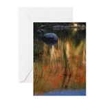 Bubble Pond card Greeting Cards