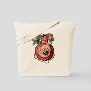 Christmas - Deck the Halls - Chows Tote Bag