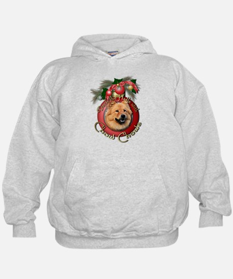 Christmas - Deck the Halls - Chows Hoodie