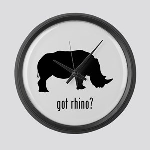 Rhino Large Wall Clock
