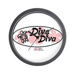Dive Diva Wall Clock