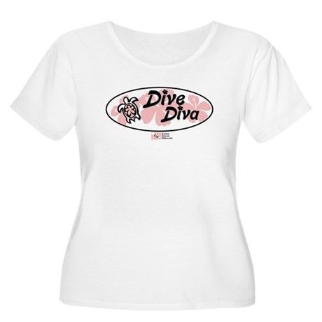 Dive Diva Women's Plus Size Scoop Neck T-Shirt