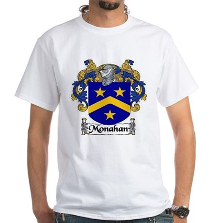 Monahan Coat of Arms White T-Shirt