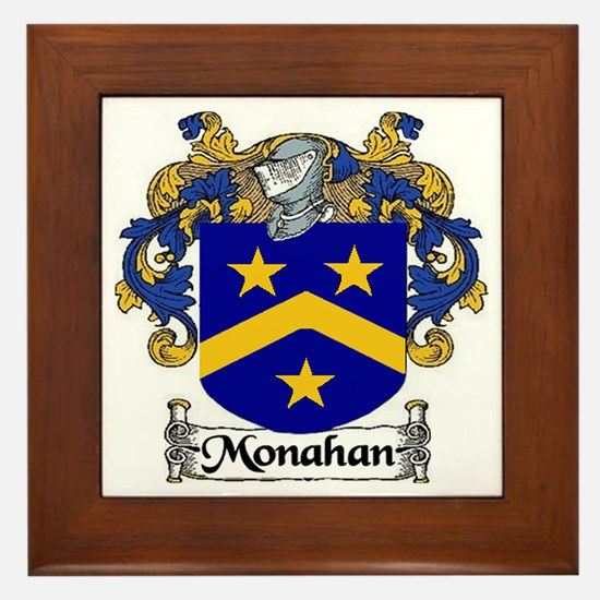 Monahan Coat of Arms Framed Tile
