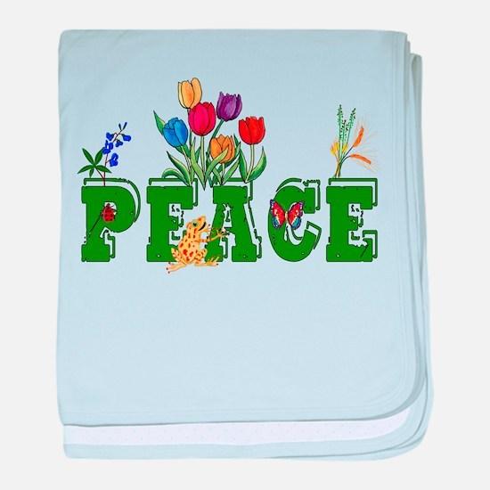 Peace Garden Infant Blanket