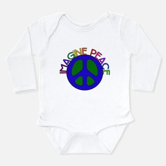 Imagine Peace Long Sleeve Infant Bodysuit
