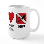 Peace Love Large Mug