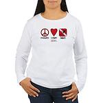 Peace Love Women's Long Sleeve T-Shirt