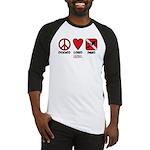 Peace Love Baseball Jersey