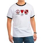 Peace Love Ringer T