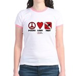 Peace Love Jr. Ringer T-Shirt