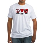 Peace Love Fitted T-Shirt