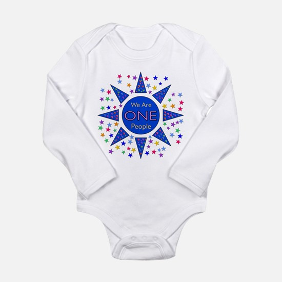 We Are One Long Sleeve Infant Bodysuit