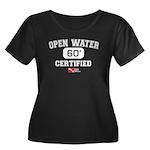 Open Water Women's Plus Size Scoop Neck Dark T-Shi