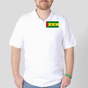 Sao Tome Principe Flag Golf Shirt