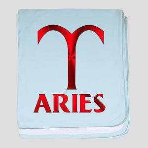 Red Aries Symbol baby blanket