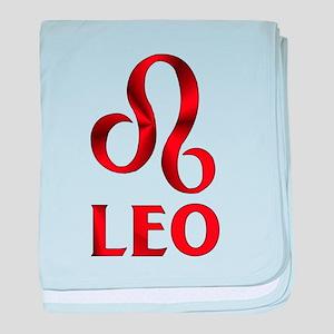 Red Leo Symbol baby blanket