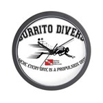 Burrito Dive Wall Clock
