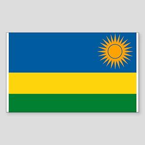 Rwanda Flag Rectangle Sticker