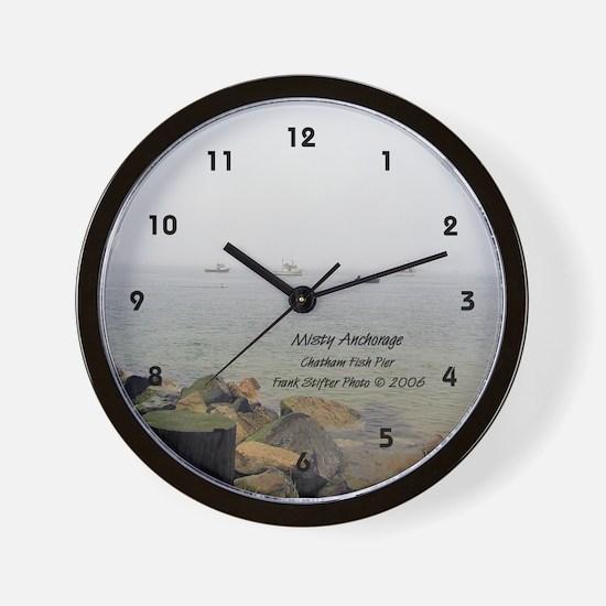 MISTY MOORING Wall Clock