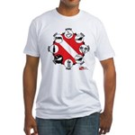 Circle of Scuba Fitted T-Shirt