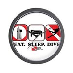 Eat Sleep Dive Wall Clock