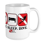 Eat Sleep Dive Large Mug