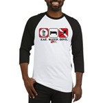 Eat Sleep Dive Baseball Jersey