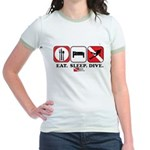 Eat Sleep Dive Jr. Ringer T-Shirt