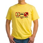 Eat Sleep Dive Yellow T-Shirt
