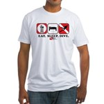 Eat Sleep Dive Fitted T-Shirt