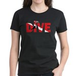 Dive Text Women's Dark T-Shirt