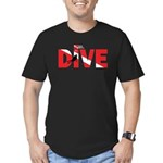 Dive Text Men's Fitted T-Shirt (dark)