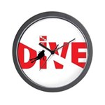 Dive Text Wall Clock