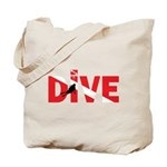 Dive Text Tote Bag